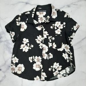 Brandy Melville Floral Button Up Shirt